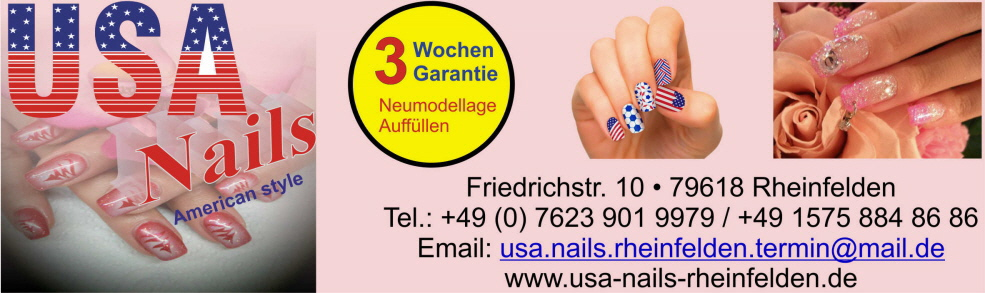 USA Nail Studio in Rheinfelden. Naildesign in Rheinfelden, Nagelstudio Rheinfelden